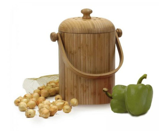 Bamboo Ecological Compost Kitchen Pail