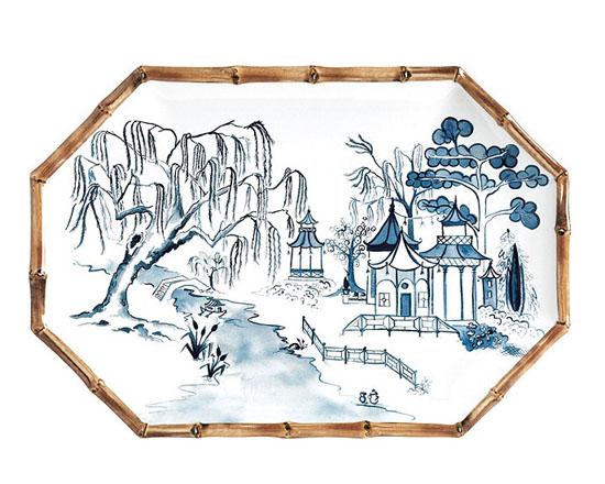 Bamboo Melamine Platter