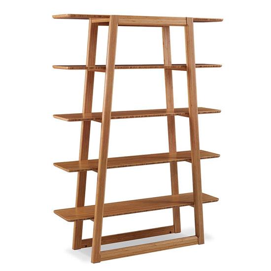 Bamboo Greenington Currant Etagere Bookcase