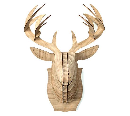 Bamboo Wood Reindeer - Bucky