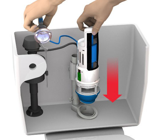 Blue Source HYR270 HydroRight Drop-in Dual Flush Converter