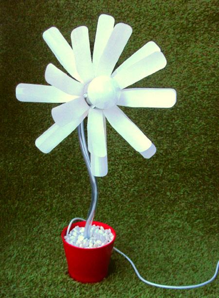 Bottle Flower Lamp