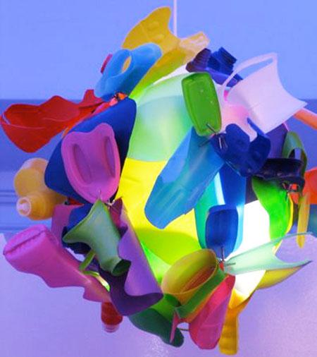 Bottleformball Chandelier