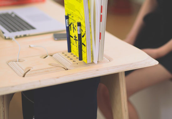 Butterply Desk - CNC Crafted Multifunctional Plywood Desk