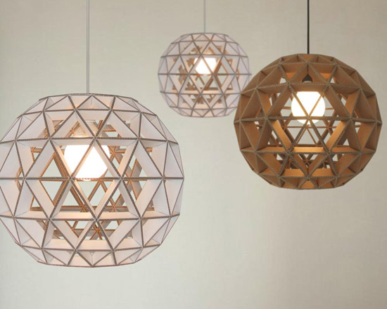 Cardboard TRIANGLES Suspension Lamp by Dany Gilles