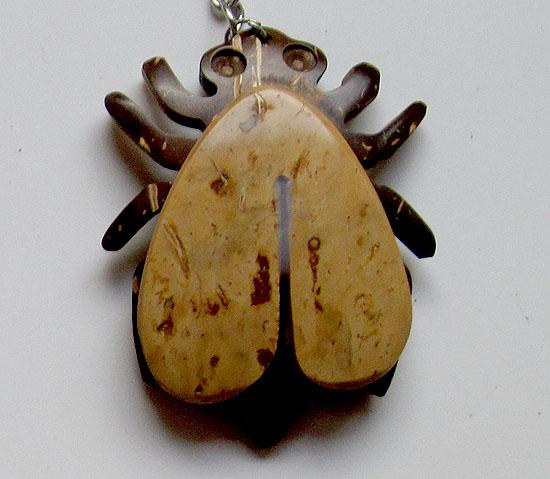 Coconut Shell Animal Keychain