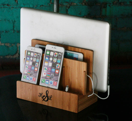Eco-Friendly Bamboo Multi Charging Station