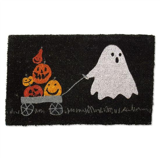 Green Halloween - Coir Halloween Parade Doormat