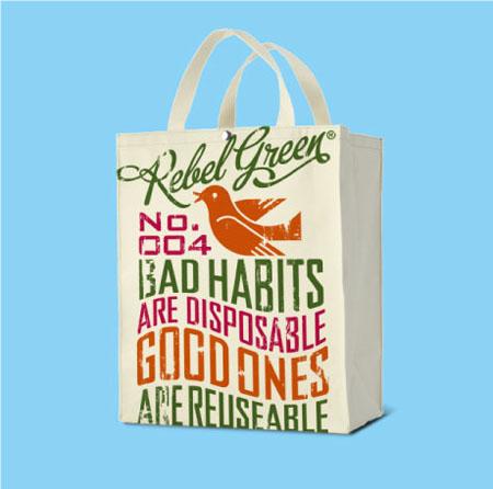 Rebel Green Tote Bag