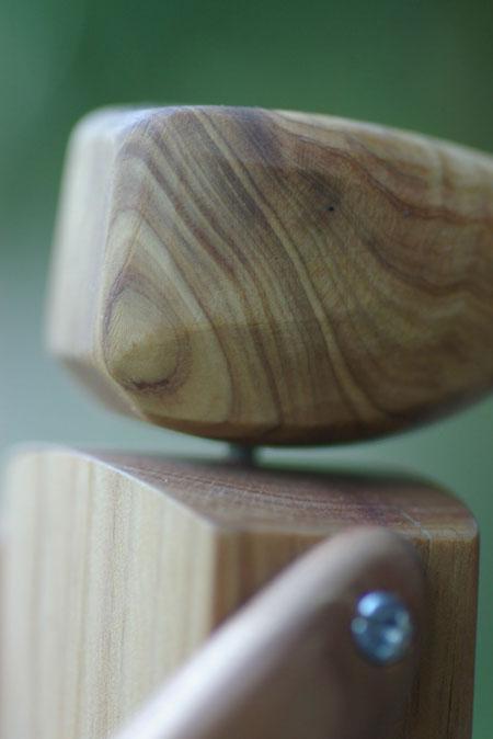 Egg and Yolk Wooden Robot