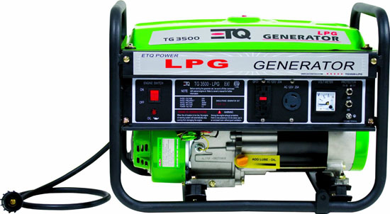 ETQ PG30P11 3000 Watt 7 HP 208cc 4-Cycle OHV Propane Powered Portable Generator