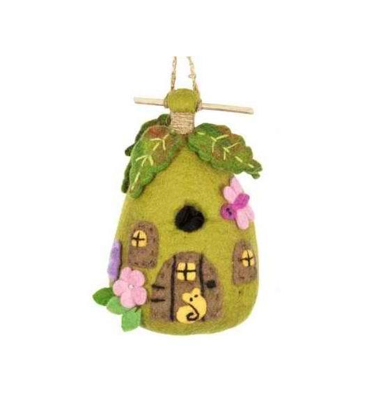 Fairy House Felt Birdhouse