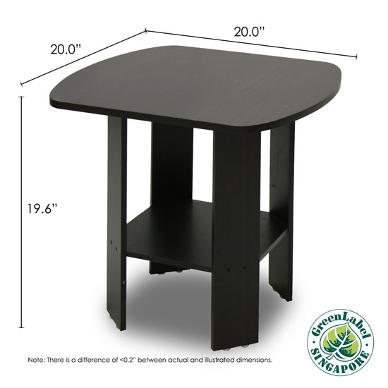 Furinno 2-11180EX Simple Design End Table