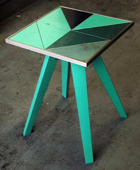 Artistic Tables from Reclaimed Car Parts