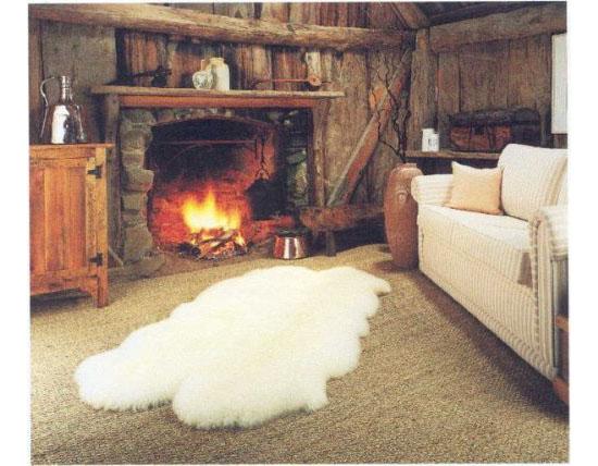 Genuine Eco-Friendly Pure Sheepskin Rug Four Pelt