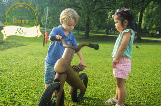 GreenChamp Bikes - Sustainable Bamboo Balance Bikes for Kids