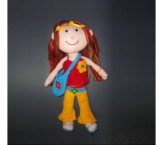 Handmade Fashion Hippy Plush Doll Toy
