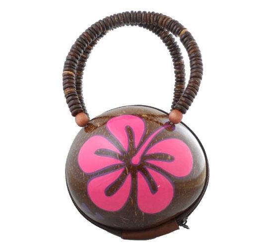 Hawaiian Real Coconut Purse Handbag