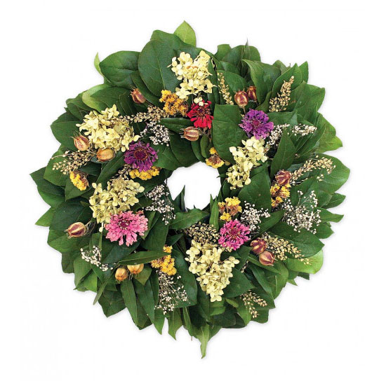 Hydrangea & Zinnia Wreath for a Bit of Nature Touch in Your House