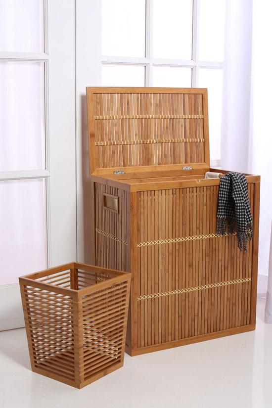 InThiSPACE Modern Bamboo Waste Basket