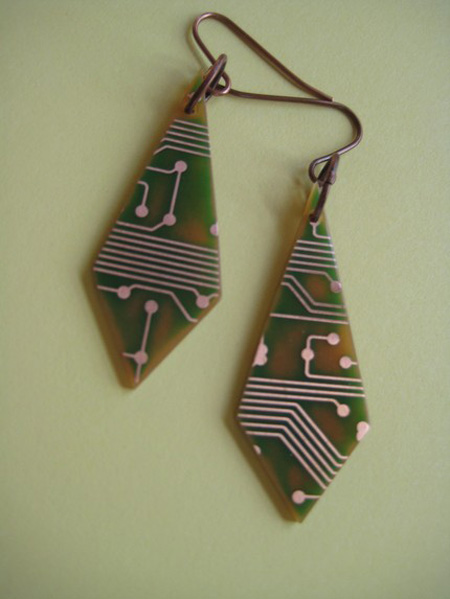 Jewelries From Recycled TV Remote Control Board