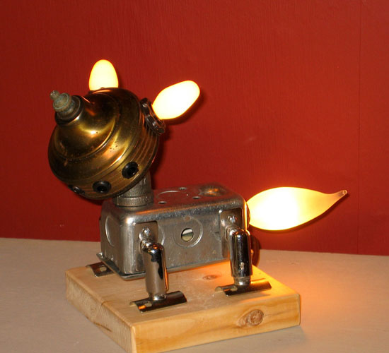 Lamp Revival Collection by Maurice Klapfish - Bullet - How To Recycle Waste