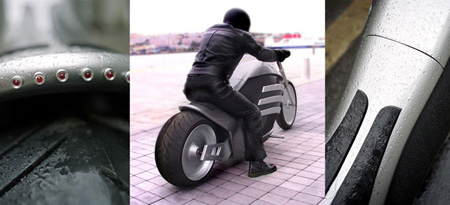 motorcycle with hybrid powertrain