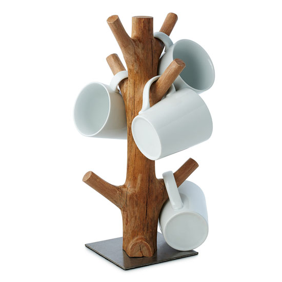 Lovely Mug Tree Made From Reclaimed Mangosteen Wood