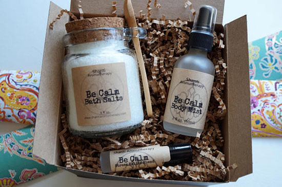 Natural Gift Set for Relaxation - Be Calm Lavender Gift Set