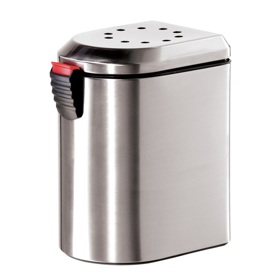 Oggi 7289.0 Deluxe Stainless Steel Countertop Compost Pail