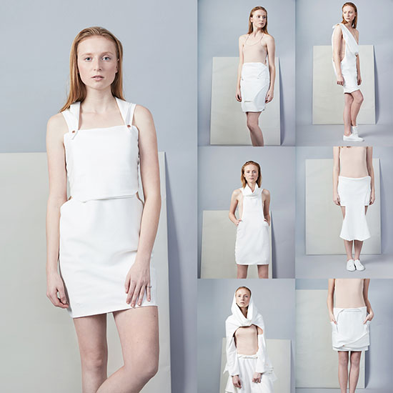 Omdanne Convertible Biodegradable Clothing by Cristina Dan