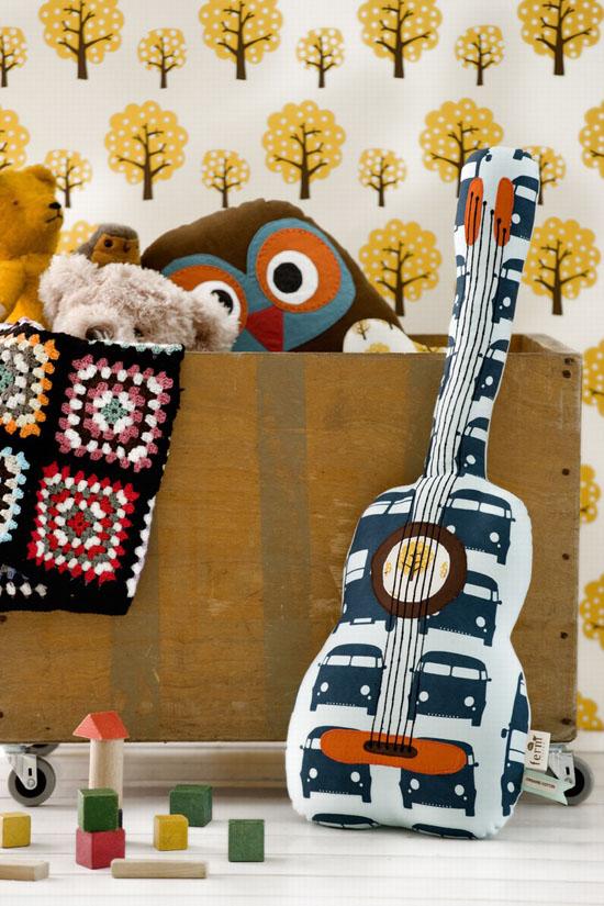 Organic Ferm Living Guitar Pillow
