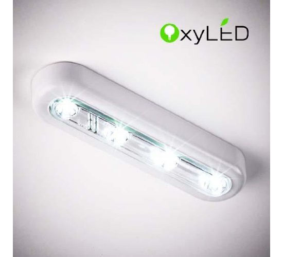 Oxyled T 01 Diy Stick On Anywhere 4 Led Touch Tap Light Push