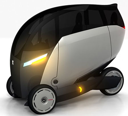 peugeot plus three wheeled eco vehicle