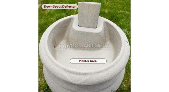 Planter-Urn Rain Barrel - Terra Cotta
