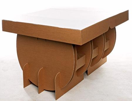 portable cardboard table