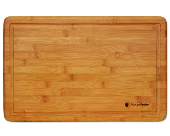 Premium Bamboo Extra Large Bamboo Cutting Board with Drip Groove