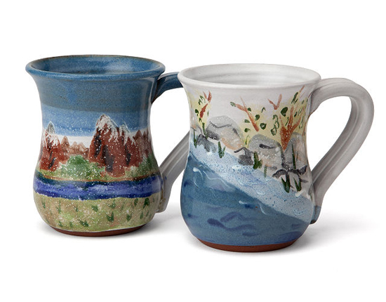 Handcrafted 'Protect the Earth' Mugs Provide Subtle Variations and Unique Characteristics