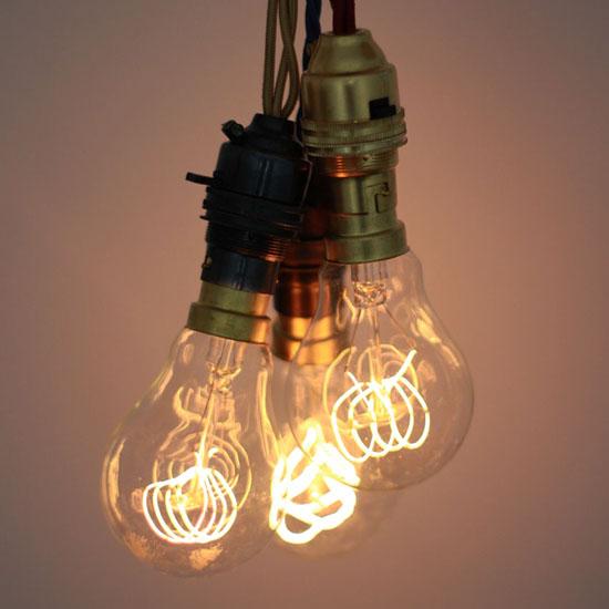 Quad Loop Carbon Filament Light Bulb