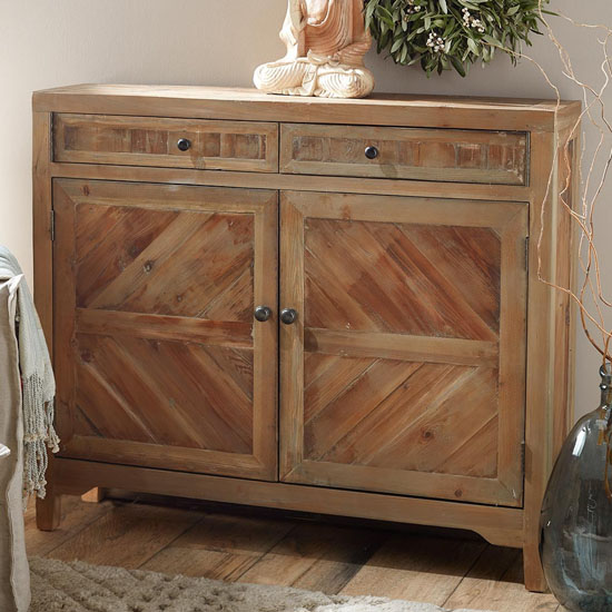 Rustic Reclaimed Fir Wooden Console Cabinet is Beautifully Crafted to Add Unique Touch to Your Living Room