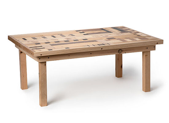 Reclaimed Wood Coffee Table by Sean Desiree