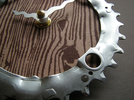 Recycled Bike Chain Ring Wall Clock