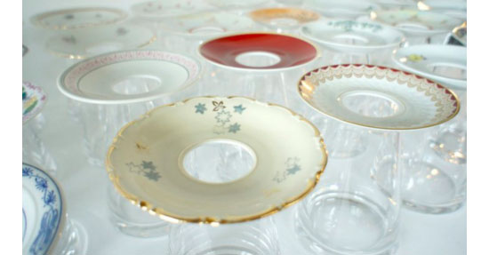 Hoch Die Teller Recycled Porcelain Saucer Vase