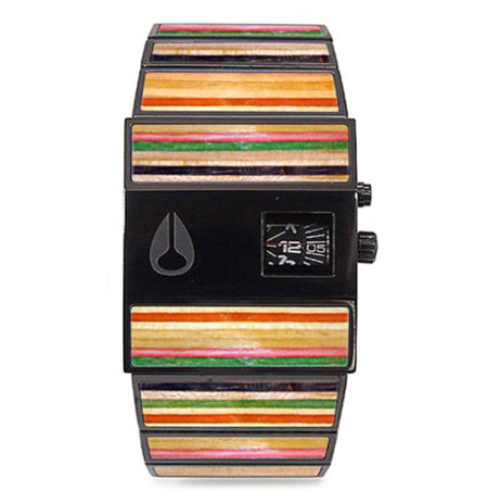 recycled skate deck watch