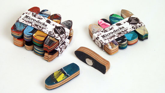 Recycled Skateboard Furniture by Deckstool