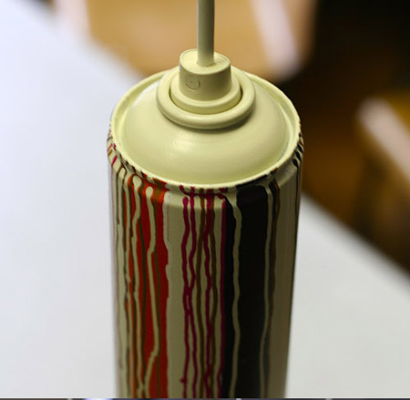 Recycled Spray Can Light