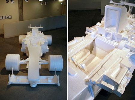Recycled Styrofoam F1 Racecar