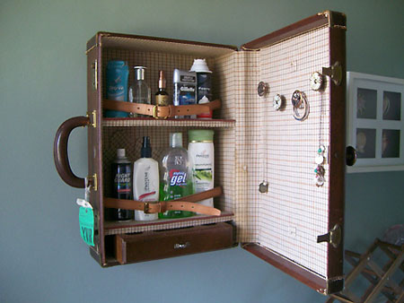 Recycled Suitcase Cabinet