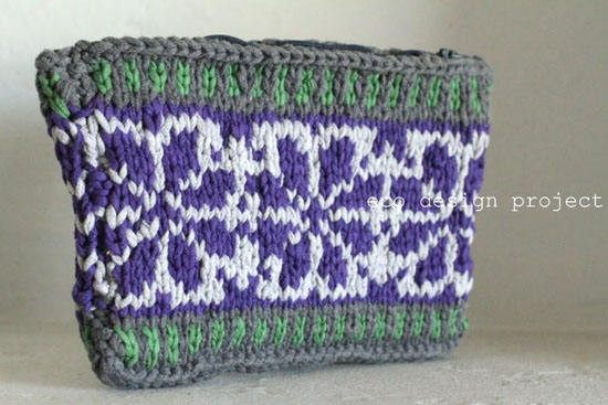 Recycled T-shirt Yarn Purse