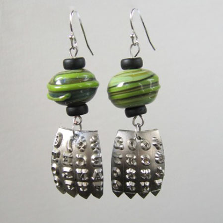 Recycled Typwriter Ball Earrings
